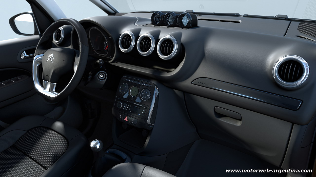 citroen muestra el interior del c3 aircross. Black Bedroom Furniture Sets. Home Design Ideas