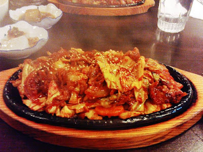 yummey Korean kimchi pork.. mmmmmm!
