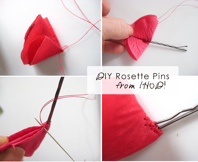 how to make rosette hair pins
