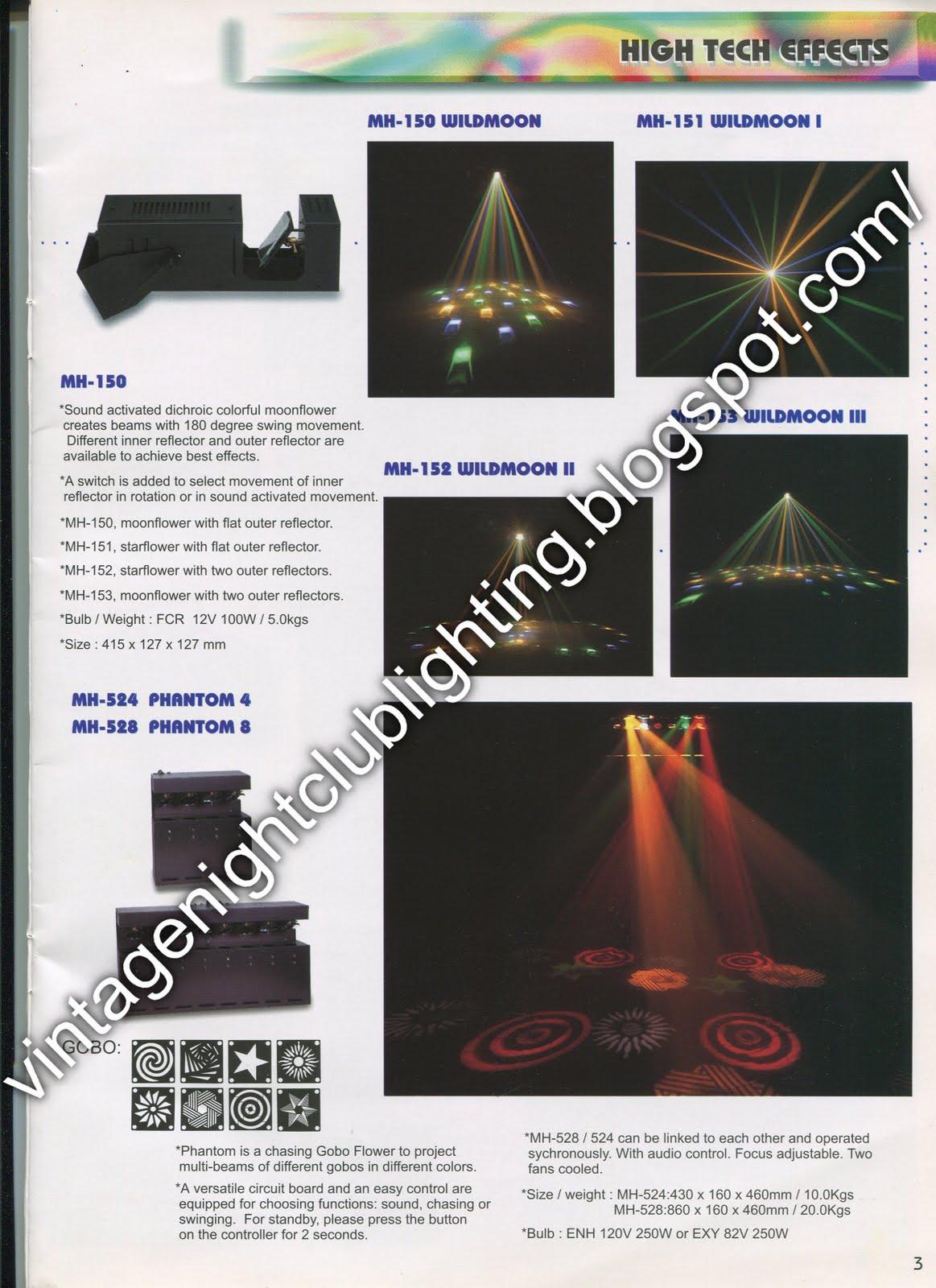 Vintage Night Club Lighting: Acme Lighting Catalogues