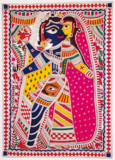 Indian traditional art bihar