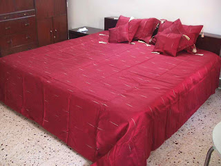 maroon sari for making bedsheet