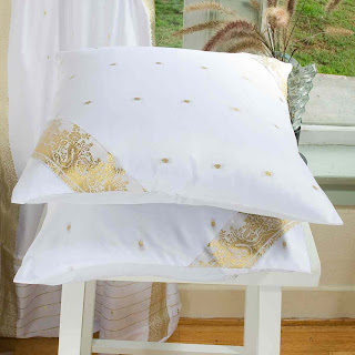white cushion cover from traditional indian sari