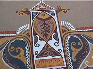 alpona art for floor design