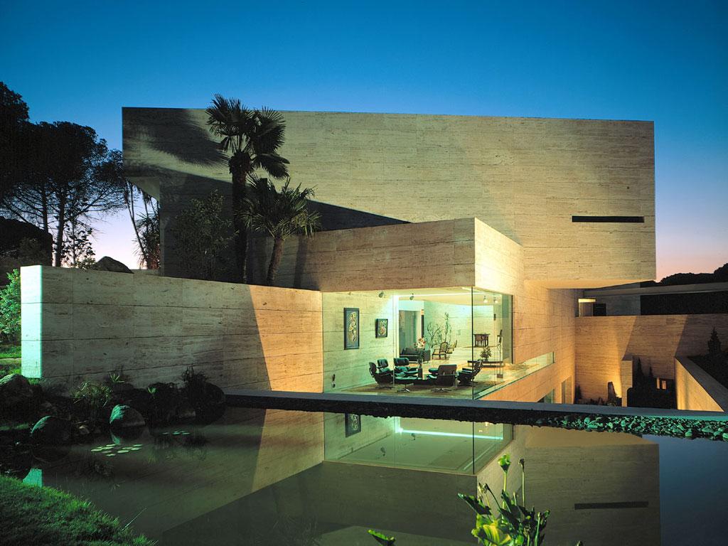 Casa contemporanea en madrid a cero tecno haus - Moderne fotos ...