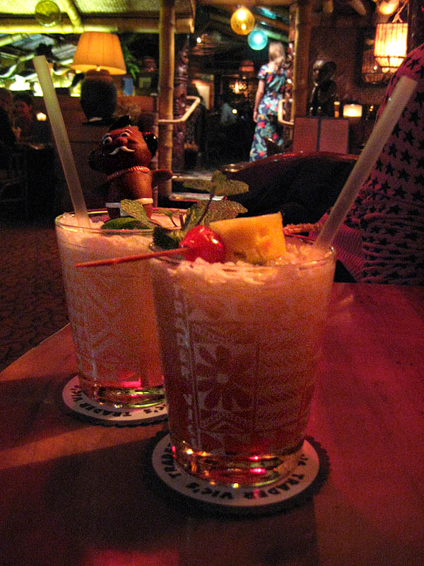 vidrio Gris Tiki c/óctel vasos de bebidas con dise/ño hawaiano tazas para fiestas//bar Six Glasses verano Punch
