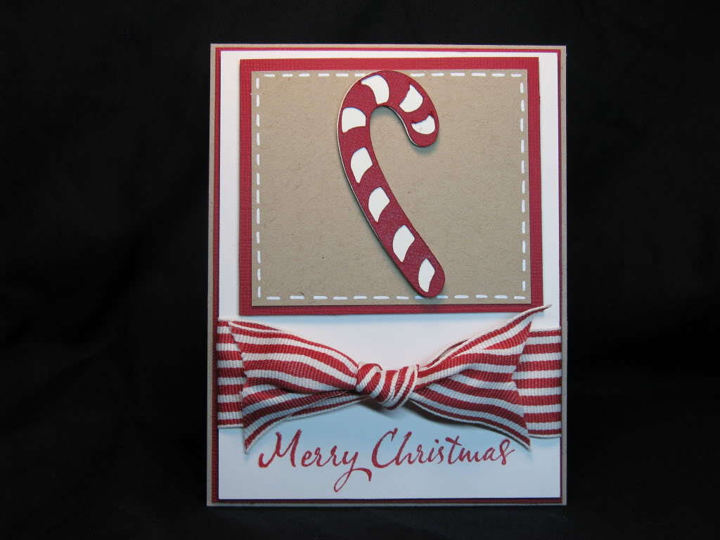 Just Blenda Candy Cane Christmas Card