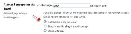 alamat pengeposan via email
