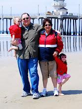 Grammie, Papa and Girls At Huntington Beach