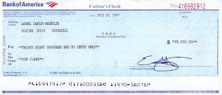 Bank of America Cashier's Check Fee : Personal Unsecured Loans