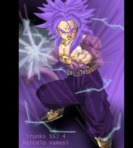 TRUNKS SSJ4 Dibujo hecho en Photoshop