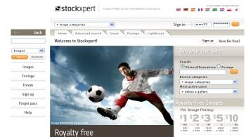 start uploading your photos at stockxpert