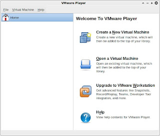 VMware Player: main window