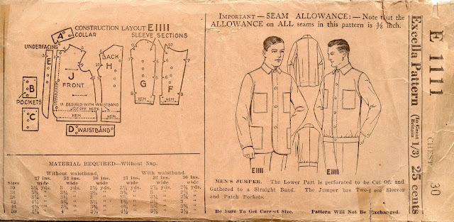Unsung Sewing Patterns: Excella 1111 - Men\'s Jumper