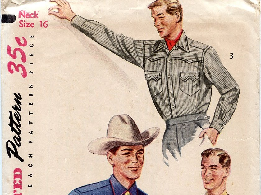 667104249ebd0 Unsung Sewing Patterns: Simplicity 4150 - Men's Western Shirt