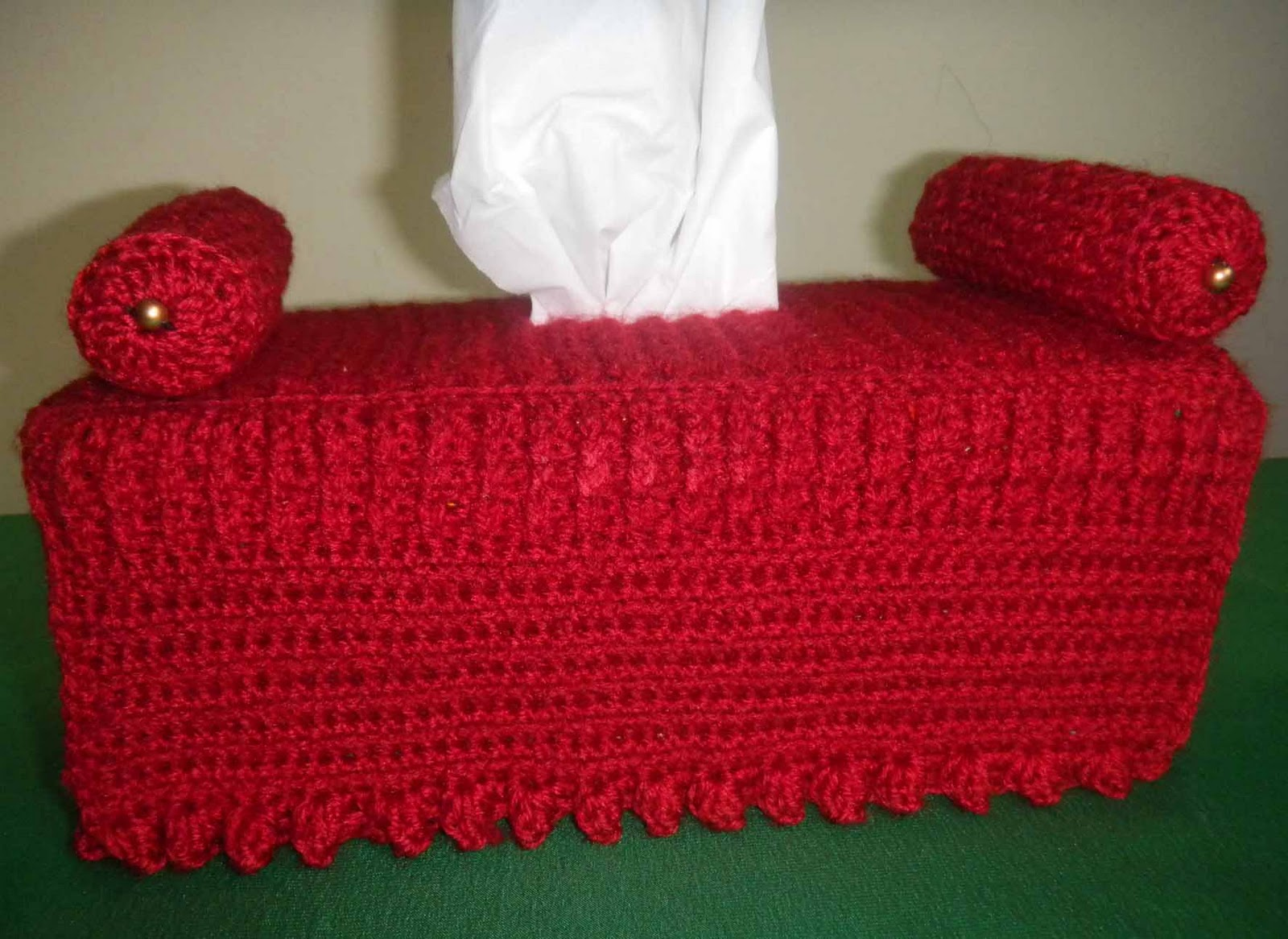 Crochet Sofa Cover Patterns Green Furniture Sandvicrochet Diwan Tissue Box