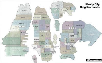 Liberty City Map The Konformist Blog: Map of Liberty City Neighborhoods in GTA IV