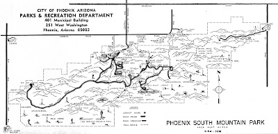 South Mountain Park Map South Mountain History: Entire 1964 South Mountain Park Brochure Map South Mountain Park Map