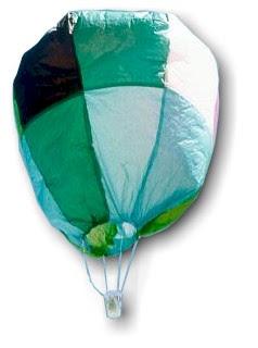 tissue paper hot air balloons