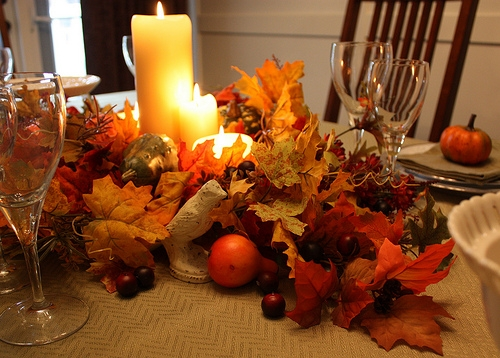 Classic With A Twist Last Minute Thanksgiving Table Centerpieces My Attempt