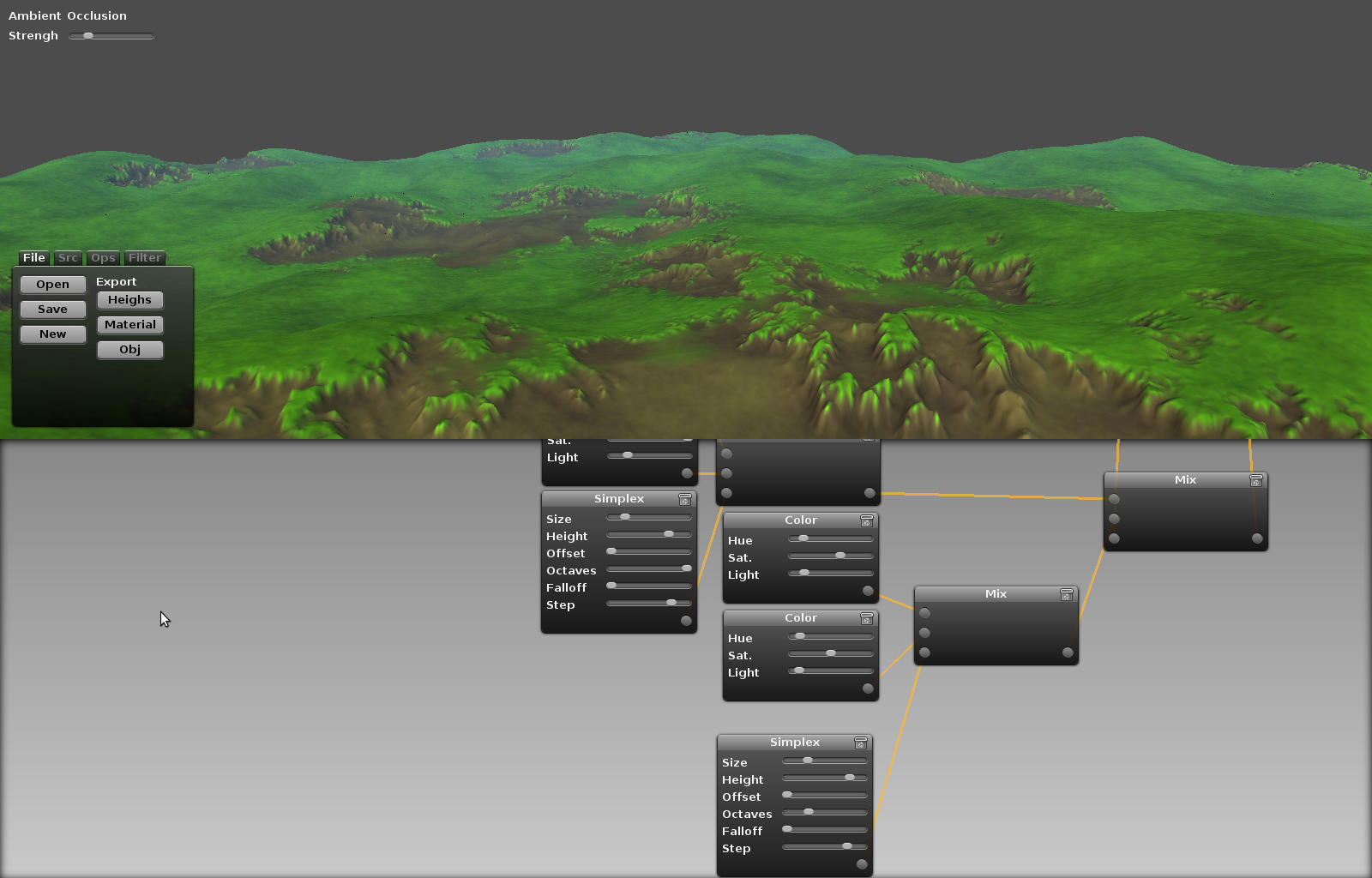 Lithosphere - awesome visual procedural 3d terrain map