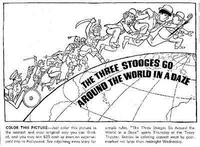 Mostly Paper Dolls: The Three Stooges Go Around The World