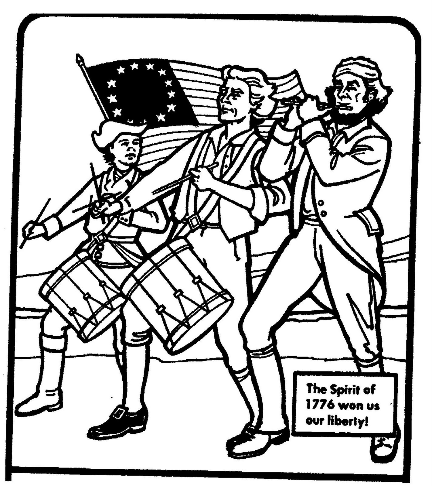 Mostly Paper Dolls: Spirit of 1776 Coloring Series