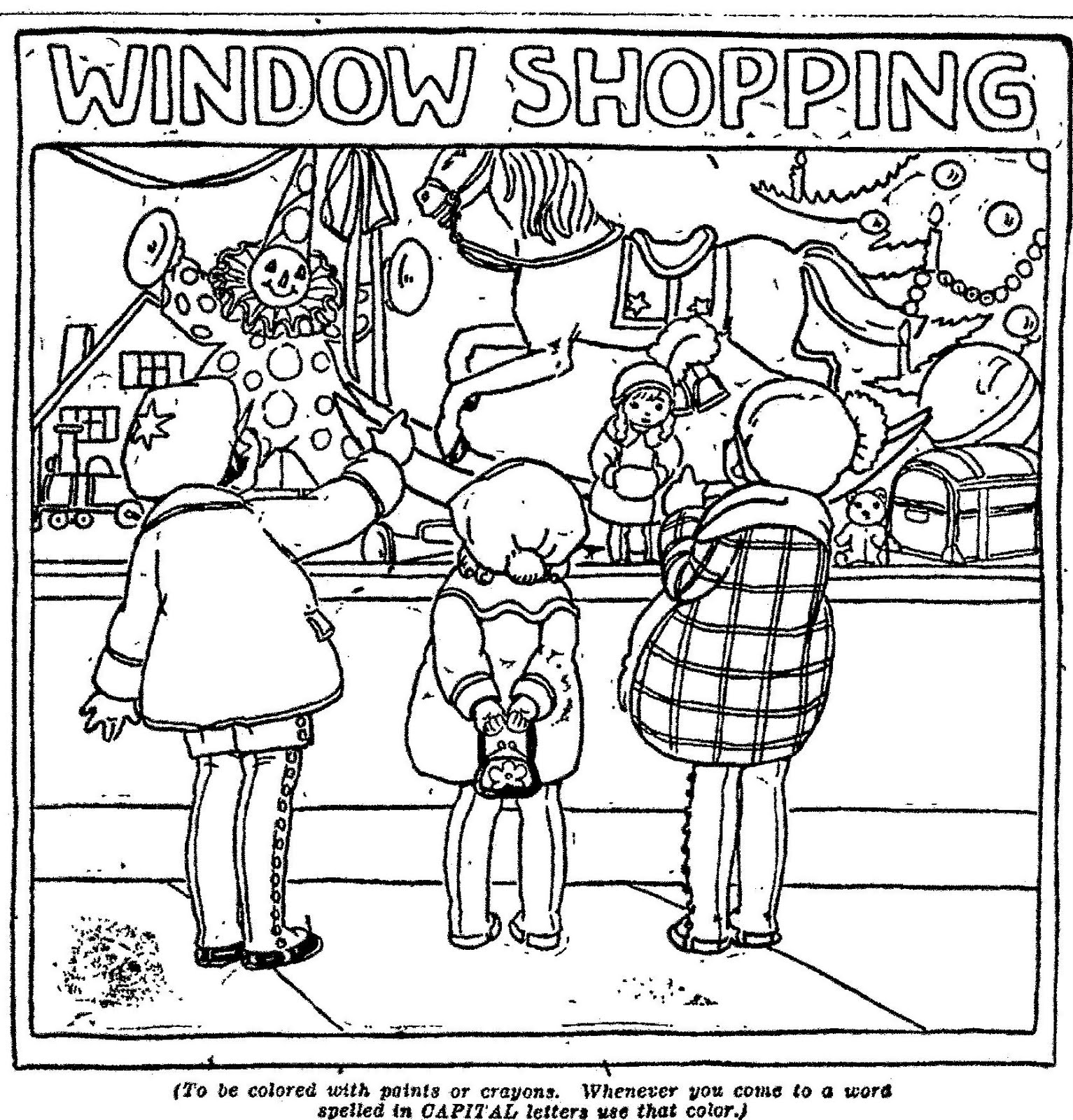 Mostly Paper Dolls Window Shopping From The Susie May
