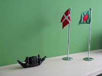 Danish and Bangladesh Flags In our CEO room