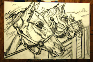 thoroughbred horses by Levin