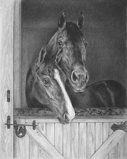 pencil pet portrait by Levin