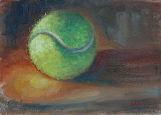 tennis ball by Lori Levin