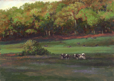 cows in landscape by Lori Levin