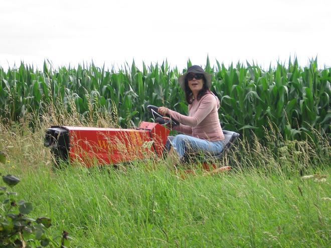 Yvonne en tractor