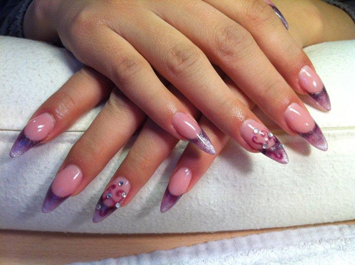 Purple glitter nail designs prinsesfo Images