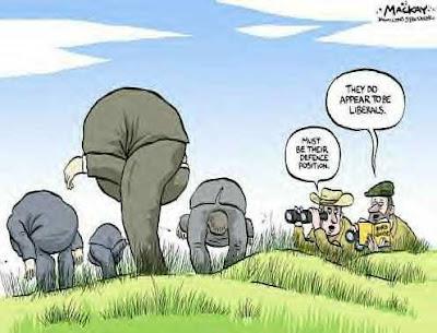 Liberals with head up ass