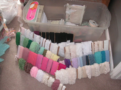 storing lace and trimmings
