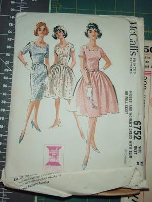 vintage sewing patterns, mccalls 6752