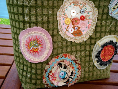 applique flower bag