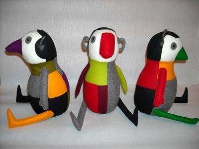 wool felt parrots or birds, Mariela Marabi