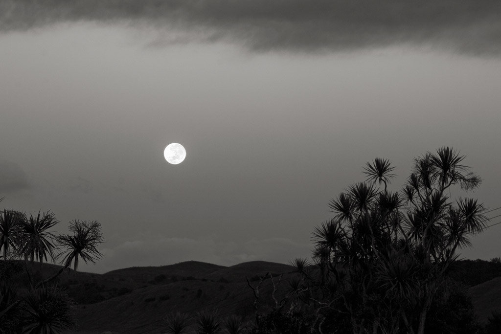 Easter moon, Pohangina Valley