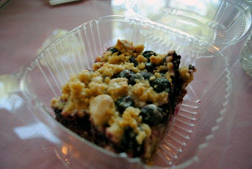 Up North Lemon Blueberry Streusel Bars