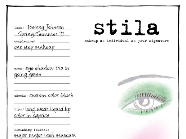 Stila on the runway Spring 2011