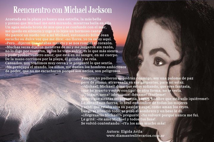 Michaelforever Poemas Para Michael Jackson De La Escritora