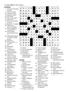Matt Gaffney's Weekly Crossword Contest: MGWCC #091