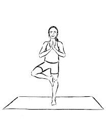 yoga drawing poses pose tree drawings sketch clark lynn jessica getdrawings paintingvalley