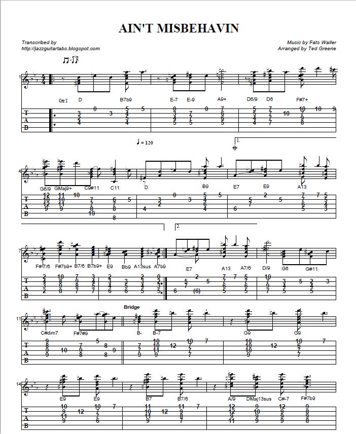 Jazz Guitar Tab : jazz guitar tabs ~ Vivirlamusica.com Haus und Dekorationen