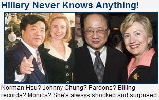 Hillary Never Knows Anthing. Graphic Rush.com