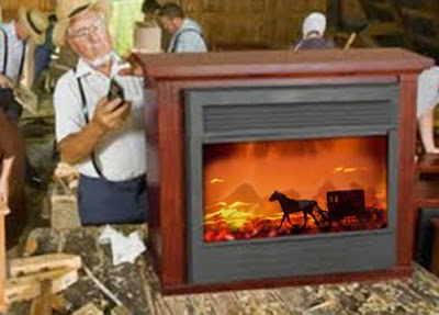 Spokanarama Amish Fireplace Mantle Photoshop Contest Entries