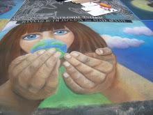 Man Hands, I Madonarri Street Painting, Santa Barbara Mission